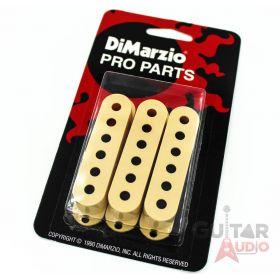 DiMarzio Pickup Covers Set of (3) for Fender Strat/Stratocaster - CREAM DM2001CR