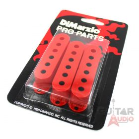 DiMarzio Pickup Covers, Set of (3) for Fender Strat/Stratocaster - RED, DM2001RD