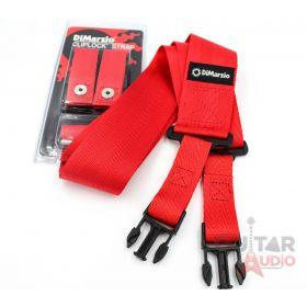 """DiMarzio ClipLock Quick Release 2"""" Nylon Guitar Strap - RED, DD2200RD"""