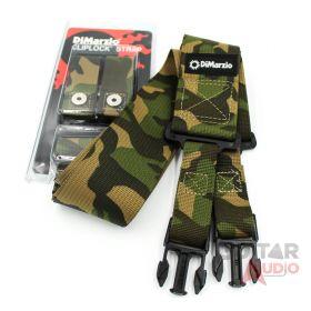 """DiMarzio ClipLock Quick Release 2"""" Guitar Strap - CORDURA CAMOUFLAGE, DD2200CM"""