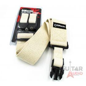 """DiMarzio ClipLock Quick Release 2"""" Guitar Strap - NATURAL COTTON, DD2200CN"""