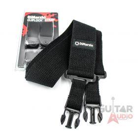"""DiMarzio ClipLock Quick Release 2"""" Guitar Strap - BLACK COTTON, DD2200CBK"""