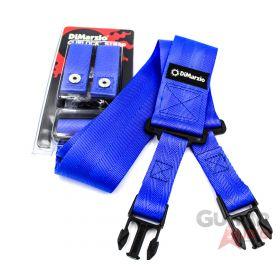 """DiMarzio ClipLock Quick Release 2"""" Nylon Guitar Strap - BLUE, DD2200BL"""