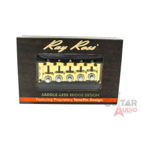 Ray Ross Saddle-Less/Saddleless 5-STRING 19mm Space Bass Bridge - GOLD, RRB519G