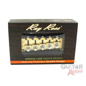 Ray Ross Saddle-Less/Saddleless 5-STRING 19mm Space Bass Bridge - BRASS, RRB519R