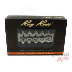 Ray Ross Saddle-Less/Saddleless 5-STRING Bass Bridge - BLACK NICKEL, RRB519BN