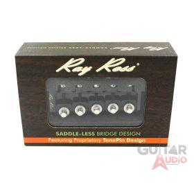 Ray Ross Saddle-Less/Saddleless 5-STRING 19mm Space Bass Bridge - BLACK, RRB519B