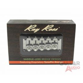 Ray Ross Saddle-Less/Saddleless 5-STRING Bass Bridge - BLACK NICKEL, RRB517BN