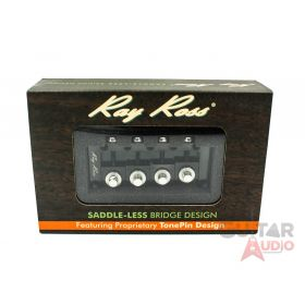 Ray Ross Saddle-Less/Saddleless 4-String P/J Bass Bridge - BLACK, RRB4B