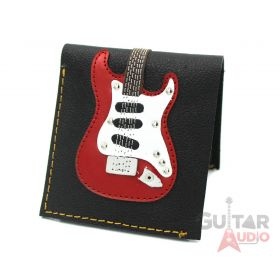AXE HEAVEN Genuine Leather Red ST Electric Guitar Player Wallet Gift, GW-008