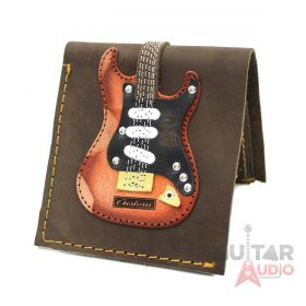 AXE HEAVEN Genuine Leather SRV Signature Electric Guitar Wallet Gift, GW-010