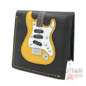 AXE HEAVEN Genuine Leather Yellow ST Electric Guitar Player Wallet Gift, GW-009