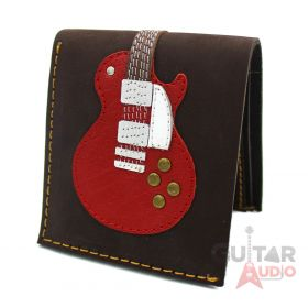 AXE HEAVEN Genuine Leather Red Single Cutaway Electric Guitar Wallet Gift