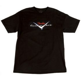 Genuine Fender Guitars Custom Shop Logo Tee Men's T-Shirt - BLACK - S, SMALL
