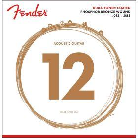 Fender 860L Phosphor Bronze Dura-Tone Acoustic Guitar Strings, LIGHT 12-53