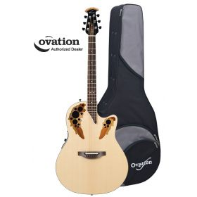 Ovation Standard Elite 2778AX Acoustic-Electric Guitar - Natural w/ Case