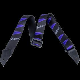 Genuine Jackson Logo Guitar Strap, Headstock Pattern, Black/Purple