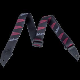 Genuine Jackson Logo Guitar Strap, Headstock Pattern, Black/Red