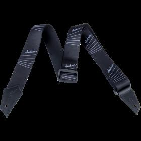 Genuine Jackson Logo Guitar Strap, String Pattern, Black/White