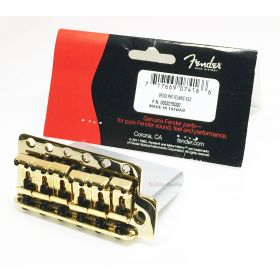 Genuine Fender MIM Classic/Highway 1 Strat Stratocaster Tremolo Bridge - Gold
