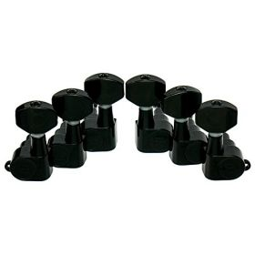 Hipshot BLACK 3+3 Classic Closed-Gear Guitar Machines 3x3 Tuners with UMP Kit