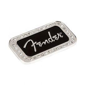 "Genuine Fender Guitars Logo Rhinestones 2"" x 1"" Magnet Gift"
