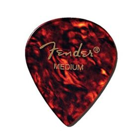 Fender 551 Classic Celluloid Guitar Picks - SHELL - MEDIUM - 12-Pack (1 Dozen)