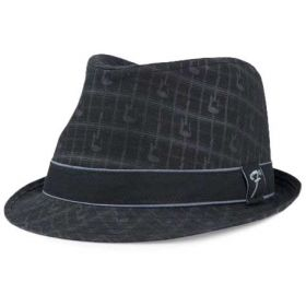Genuine Fender Axe Guitars Plaid Fedora Hat - S/M SMALL/MEDIUM - BLACK