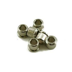 """Kluson Guitar Tuner Machines Bushings, 1/4"""" Nickel (Set of 6) - MB65N-US"""