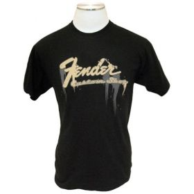 Genuine Fender Guitars Logo Taking Over Me Tee Men's T-Shirt - BLACK - L, LARGE