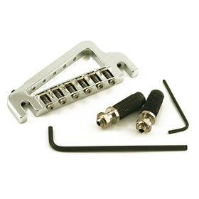 Hipshot 43100C Baby Grand 6-String Fixed Gibson Electric Guitar Bridge - CHROME