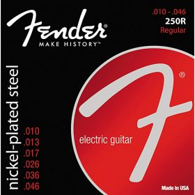 Fender Super 250R Nickel-Plated Steel Electric Guitar Strings Set, REGULAR 10-46