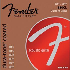 Fender 880CL Dura-Tone Coated Acoustic Guitar Strings - CUSTOM LIGHT 11-52
