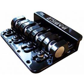 Babicz Full Contact Hardware FCH4BK 4 String Bass Bridge, Black