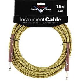 Fender Custom Shop TWEED Electric Guitar Cable, Straight to Straight, 15' ft