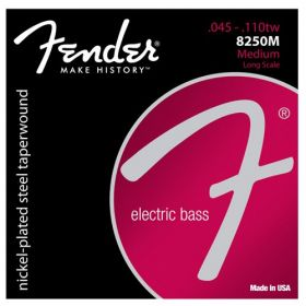 Fender 8250M NPS Taperwound Electric Bass Strings, Long Scale MEDIUM 45-110