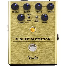 Genuine Fender Pugilist Distortion Electric Guitar Stomp Box Effects Pedal