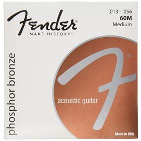 Fender 60M Phosphor Bronze Acoustic Guitar Strings, MEDIUM 13-56