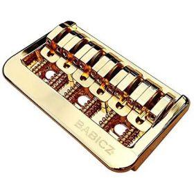 Babicz Full Contact Hardware Fixed 6-String Hardtail Bridge, Gold
