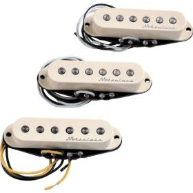 Genuine Fender Hot Noiseless AGED WHITE Stratocaster Pickup Set - 099-2105-000