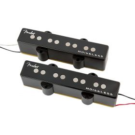 Genuine Fender GEN 4 Noiseless Jazz/J Bass Pickups Set - BLACK