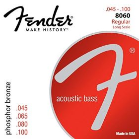 Fender 8060 LONG-SCALE Phosphor Bronze Acoustic Bass Strings - REGULAR 45-100