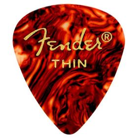 Fender 351 Classic Celluloid Guitar Picks - SHELL - THIN - 144-Pack (1 Gross)