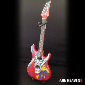 AXE HEAVEN Joe Satriani Signature Silver Surfer MINIATURE Guitar Display Gift