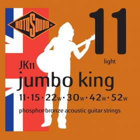 Rotosound Jumbo King Phosphor Bronze Acoustic Guitar Strings Set - JK11 11-52