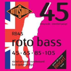 Rotosound RB45 Roto Bass Nickel on Steel 4-String Bass Strings 45-105