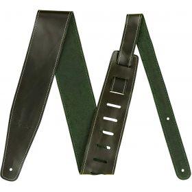 "Genuine Fender 2.5"" Broken-In Leather Guitar Strap - Green - 099-0641-062"