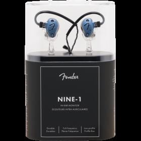 Fender IEM NINE 1, GUN METAL BLUE Professional In-Ear Personal Headphone Monitor