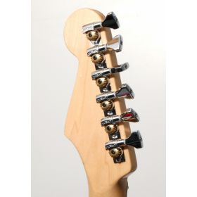 Hipshot 6K1GN0C CHROME 6-In-Line Non-Staggered Open-Gear Guitar Tuners w/ UMP