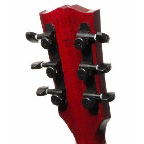 Hipshot BLACK 3+3 GripLock Closed-Gear Locking Guitar Machines 3x3 Tuners w/ UMP